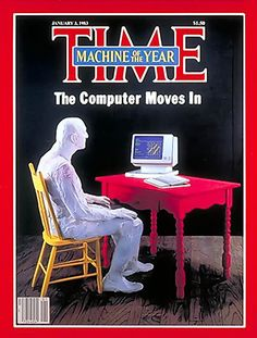 "1982: TIME announces ""Machine of the Year"",  A senior writer contributed: ""computers were once regarded as distant, ominous abstractions, like Big Brother. In 1982, they truly became personalized, brought down to scale, so that people could hold, prod and play with them."""