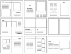 Grid structures are the layout look of where the image and body copy will be placed on what is being created. They are very important because they breakup the layout of the design so you can imaging the way you want your design to be. Editorial Design Layouts, Magazine Layout Design, Book Design Layout, Print Layout, Graphic Design Layouts, Page Layout, Magazine Layouts, Design Posters, Grid Graphic Design
