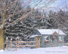 Maple Grove: Hanging Mason Jar Candleholders and Dangling Bead Strands