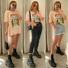 Tomboy Fashion, Fashion Outfits, Jeans And T Shirt Outfit, Cool Outfits, Casual Outfits, College Outfits, Ideias Fashion, Clothes, Ideas