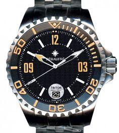 Dèbaufrè Watches | Triton 2000 Meter Diver | Edelstahl | Uhren-Datenbank watchtime.net