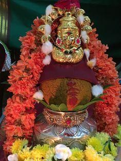 Varalakshmi vrat falls on Aug On this auspicious day women observing vrat and keep fasting for longevity of their husband and marital bliss. Flower Garland Wedding, Flower Garlands, Flower Decorations, Pooja Mandir, Flower Rangoli, Puja Room, Floating Flowers, Simple Rangoli, Diy Garland