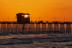Sunset at the Oceanside Pier - May 31, 2014 by Rich Cruse on 500px