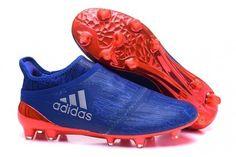 a0136df64aac4 Adidas X 16+ PureChaos FG Collegiate Royal SolarRed SilverMetallic Soccer  Cleats