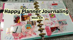 Happy Planner Journaling - Week 31
