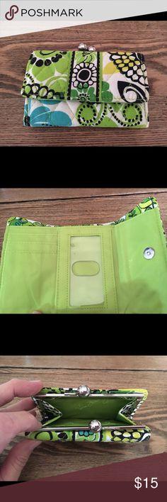 Vera Bradley Lime's Up Kisslock Wallet Same as brand new. Used 1 time Vera Bradley Bags Wallets