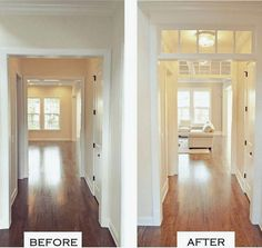 The discussion of some small high-up windows from Sunday s post reminded me ironically of one my favorite architectural features Transom Windows Brooks and Falotico I think that most of us know Home Renovation, Home Remodeling, Style At Home, Transom Windows, The Ranch, Home Interior, My Dream Home, Fixer Upper, Home Projects