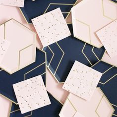 Blush Pink & Navy Tableware Collection the Perfect party Supplies – Sprinkles & Confetti Gender Reveal Themes, Gender Reveal Party Decorations, Baby Gender Reveal Party, Blush And Gold, Blush Pink, Navy Pink, Rose Gold, Navy Baby Showers, Shower Baby