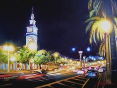The #FerryBuilding in #Embarcadero street in #SanFrancisco painting