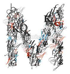 Letter M Typography Alphabet
