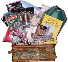 Gift basket for the hiking enthusiast