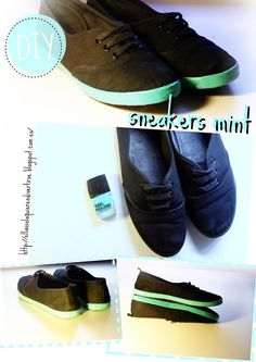 ELLAS SOLO QUIEREN DIVERTIRSE: DIY: SNEAKERS MINT