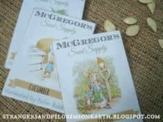 Strangers & Pilgrims on Earth: Mr. McGregor's (Peter Rabbit's) Seed Packets ~ Free Printable