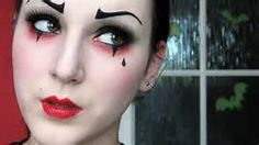 Pantomime make-up - Creative ideas in pictures for great make-up for Halloween and carnival Creepy Clown Makeup, Mime Makeup, Punk Makeup, Costume Makeup, Halloween Face Makeup, Jester Makeup, Mime Costume, Clown Makeup Tutorial, Artistic Make Up