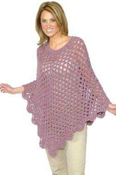 Free Crochet Poncho Patterns Beginner | Alpaca Boucle Crochet Openwork Poncho