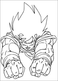 Looking for a Dragon Ball Z Coloring Pages Online. We have Dragon Ball Z Coloring Pages Online and the other about Coloring Pages it free. Online Coloring Pages, Coloring Book Pages, Coloring Pages For Kids, Coloring Sheets, Manga Dbz, Toddler Coloring Book, Z Tattoo, Anatomy Coloring Book, Sketches
