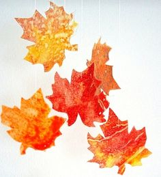 Festive #Fall #Decor - Falling Wax #Leaves