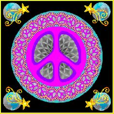 Inspirational Earth Caretakers: Peaceful world, spinning earth, planet in space with bright stars, moon with rays of light bringing peace and a message from Earth. Hippie Peace, Happy Hippie, Hippie Love, Hippie Art, Peace Sign Art, Peace Signs, Animated Heart Gif, Hippie Trippy, Give Peace A Chance