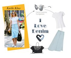 """Denim skirt by Karlie Kloss"" by smartbuyglasses-uk ❤ liked on Polyvore featuring Acne Studios, Balenciaga, Therapy, Fendi, RE/DONE, fendi, karliekloss, CelebrityStyle, denimskirt and fendisunglasses"