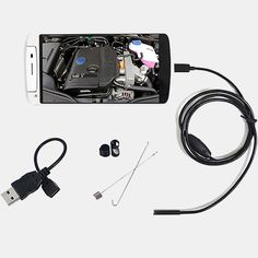 SMARTPHONE WATERPROOF ENDOSCOPE INSPECTION CAMERA FOR ANDROID DEVICES