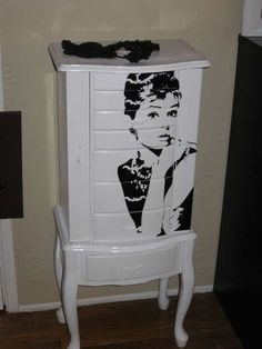 Jewelry armoire makeover, now to find one to makeover...