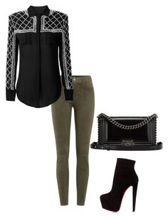"""Untitled #56"" by cocodshay on Polyvore featuring J Brand, Christian Louboutin and Chanel"