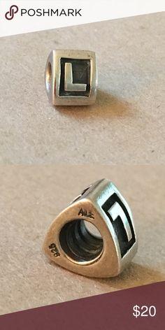 Pandora L Charm Pandora L Charm Pandora Jewelry Bracelets