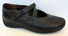 Wolky 'Passion' Black Leather Mary Jane Flat Size 39/US 8-8.5 #Wolky #MaryJanes