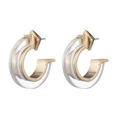 Alexis Bittar Minimalist Hoop Earring ($150) ❤ liked on Polyvore featuring jewelry, earrings, silver, handcrafted jewelry, handcrafted jewellery, alexis bittar, handcrafted earrings and alexis bittar earrings