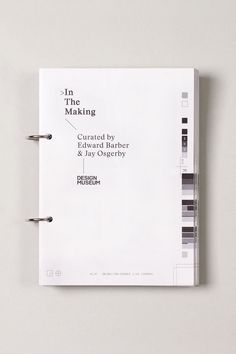 In The Making | Exhibition Brochure and Catalogue Design Layout Ideas | Award-winning Graphic Design | D&AD