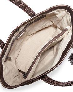 Camino Metallic Leather Tote Bag, Bronze
