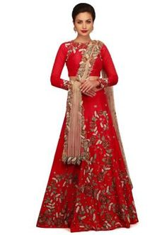 Red Lehenga is the best color for bridal attire on wedding. Checkout the collection now.