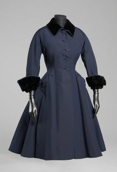 Coat    Made in France, Europe  c. 1948-49    Designed by Christian Dior