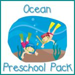 Ocean Preschool Pack printables and learning activities for ocean week