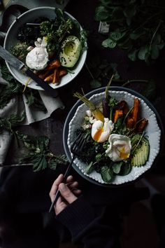 Enjoy a spring nettle breakfast bowl, with quinoa and a toss of fresh pesto, topped it with all sorts of veggies and poached eggs!