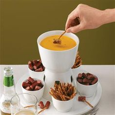 Beer & Cheddar Fondue Recipe from Taste of Home