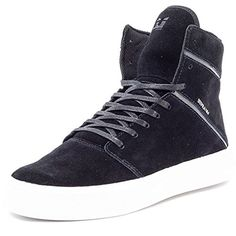 Supra Camino Mens Leather Trainers Black White - 45 EU - http://on