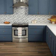 Daltile Premier Accents Ice Blue Chevron 9 in. x 12 in. x 8 mm Porcelain Mosaic Wall Tile sq. / - The Home Depot Blue Kitchen Cabinets, Kitchen Buffet, Green Kitchen, New Kitchen, Kitchen Decor, Blue Kitchen Backsplash, Blue Kitchen Ideas, Popular Kitchen Colors, Smart Kitchen