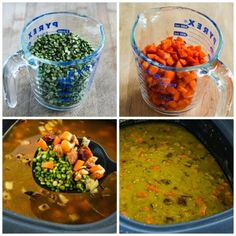 Slow Cooker Split Pea Soup with Chicken Sausage and Carrots (Gluten-Free) [from KalynsKitchen.com]