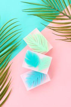 DIY Palm Leaf Soap | A Beautiful Mess | Bloglovin'
