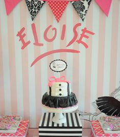 Eloise at the Plaza Party! This ritzy party will be the talk of the town.
