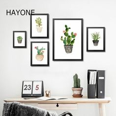 Nature canvas prints for wall decor, wall designs, wall art and gallery wall layout (one canvas or set of ten canvas). full set of shamrock cactus canvas Clock Decor, Wall Decor, Room Decor, Wall Art, Canvas Art Prints, Wall Prints, Print For Walls, Painting Canvas, Gallery Wall Layout