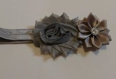 Gray Flower Infant Headband by LilahBea on Etsy