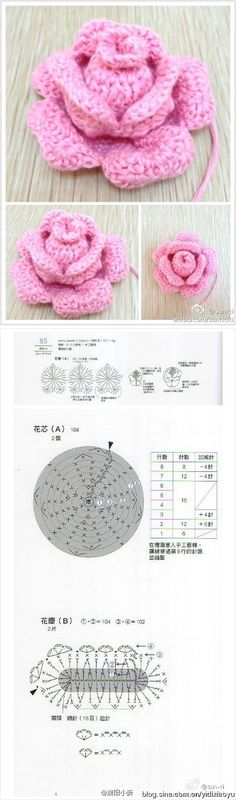 Lovely crocheted flowers to look at. All in Chinese though :( 精美的钩织装饰花,有教程