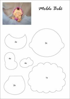Cute Baby Doll Felt Pattern