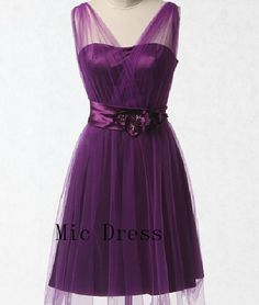 $105, cute dress. Can get in blue (no. 28) Sheer straps sleeveless knee-length tulle with satin sashes bow lace uo back homecoming dresses and cocktail dresses