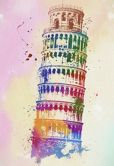 The Leaning Tower of Pisa (Italian: Torre pendente di Pisa) or simply the Tower of Pisa (Torre di Pisa [ˈtorre di ˈpiːza]) is the campanile, or fre. Pisa Tower, Italy Art, City Painting, Christmas Nail Art Designs, Photo Wall Collage, Prints For Sale, Artist At Work, Fine Art America, Street Art