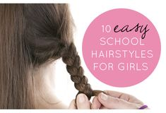 10 easy school hairstyles for girls - Can't wait until Maeve's hair is a bit longer. :)