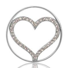 Buy Nikki Lissoni Silver Sparkling Heart Coin 33mm
