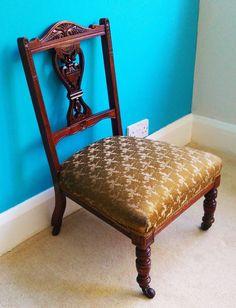 Victorian Reupholstered Nursing Chair Furniture Pinterest